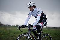 Fabian Cancellara (SUI/Trek-Segafredo) during recon of the 114th Paris - Roubaix 2016
