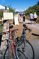 5th Annual Garlic Festival, August 2013 (hosted by The Sharing Farm) at Terra Nova Rural Park, Richmond, BC, British Columbia, Canada - Garlic Lovers arrive by Bicycle