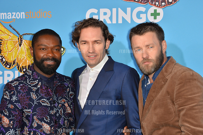 David Oyelowo, Nash Edgerton &amp; Joel Edgerton at the world premiere for &quot;Gringo&quot; at the L.A. Live Regal Cinemas, Los Angeles, USA 06 March 2018<br /> Picture: Paul Smith/Featureflash/SilverHub 0208 004 5359 sales@silverhubmedia.com