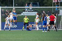 Boston, MA - Friday August 04, 2017: Brittany Taylor and Rosie White during a regular season National Women's Soccer League (NWSL) match between the Boston Breakers and FC Kansas City at Jordan Field.