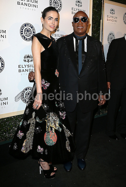 "07 January 2017 - Los Angeles, California - Camilla Belle, Stevie Wonder. The Art of Elysium 20th Anniversary and 10th Annual celebration ""HEAVEN"" Gala held at Red Studios. Photo Credit: F. Sadou/AdMedia"