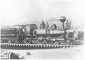 RGS 4-6-0 #22 (1st) on Ridgway turntable.<br /> RGS  Ridgway, CO  4/20/1896