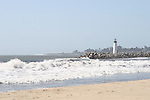 Phots of the Santa Cruz Ca. Coast line including Surfers Point light house and Harbor Light House and Seabright Beach.