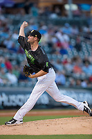 Charlotte Knights starting pitcher Chris Volstad (44) in action against the Columbus Clippers at BB&T BallPark on May 3, 2016 in Charlotte, North Carolina.  The Clippers defeated the Knights 8-3.  (Brian Westerholt/Four Seam Images)