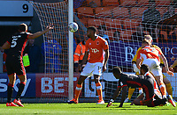 Blackpool's Curtis Tilt heads off the line<br /> <br /> Photographer Richard Martin-Roberts/CameraSport<br /> <br /> The EFL Sky Bet League One - Blackpool v Milton Keynes Dons - Saturday August 12th 2017 - Bloomfield Road - Blackpool<br /> <br /> World Copyright &copy; 2017 CameraSport. All rights reserved. 43 Linden Ave. Countesthorpe. Leicester. England. LE8 5PG - Tel: +44 (0) 116 277 4147 - admin@camerasport.com - www.camerasport.com