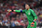 Fernando Muslera of Uruguay yells to teammates during an international friendly game  against the USA on September 10, 2019 at Busch Stadium in St. Louis, Missouri USA<br /> AFP Photo by Tim VIZER