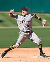 Missouri TIger Michael Liberto against the TCU Horned Frogs on Friday March 5th, 2100 at the Astros College Classic in Houston's Minute Maid Park.  (Photo by Andrew Woolley / Four Seam Images)
