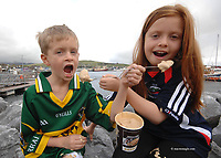 The  Supreme Champion of  the Blas na hEireann, the National Irish Food and Drink Awards at the Dingle Peninsula Food and Wine Festival on Friday was Silverpail - Supervalu Supreme truffle fudge ice cream. Pictured sampling the delicious ice-cream were Jack Brick (7) and his sister Ciara Brick  (9), from Dingle, Co. Kerry. Picture: Eamonn Keogh (MacMonagle, Killarney)<br /> <br />  <br /> <br /> <br /> &copy; Photo by Don MacMonagle - macmonagle.com<br /> info@macmonagle.com