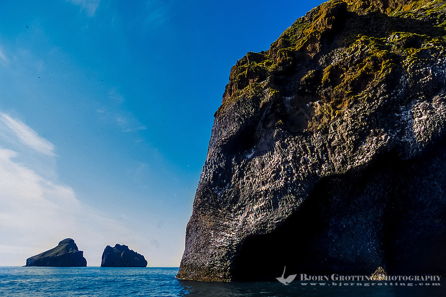"Vestmannaeyjar Islands off the south coast of Iceland. Heimaey is the main island. This rock formation is called ""The Elephant""."
