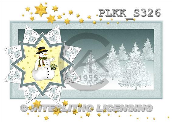 Kris, CHRISTMAS SANTA, SNOWMAN, paintings, PLKKS326,#X# Weihnachtsmänner, Schneemänner, Weihnachen, Papá Noel, muñecos de nieve, Navidad, illustrations, pinturas