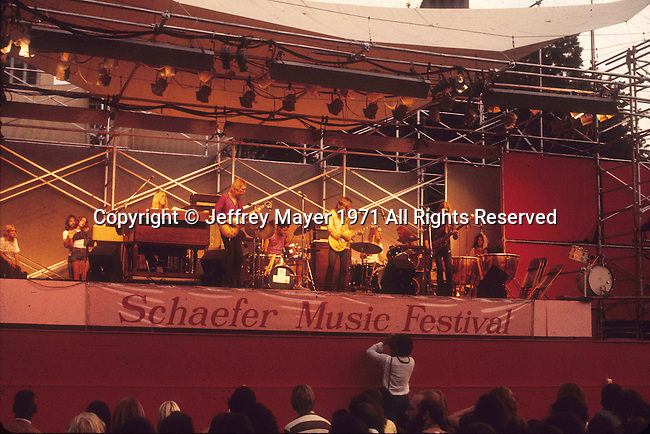 NEW YORK CITY, N.Y. - March 01: The Allman Brothers Band  performs at the Schaefer Music Festival in Central Park, New York on July 17, 1971 in New York City, New York.