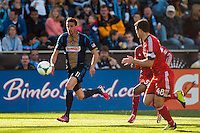 Sebastien Le Toux (11) of the Philadelphia Union. Toronto FC and the Philadelphia Union played to a 1-1 tie during a Major League Soccer (MLS) match at PPL Park in Chester, PA, on April13, 2013.