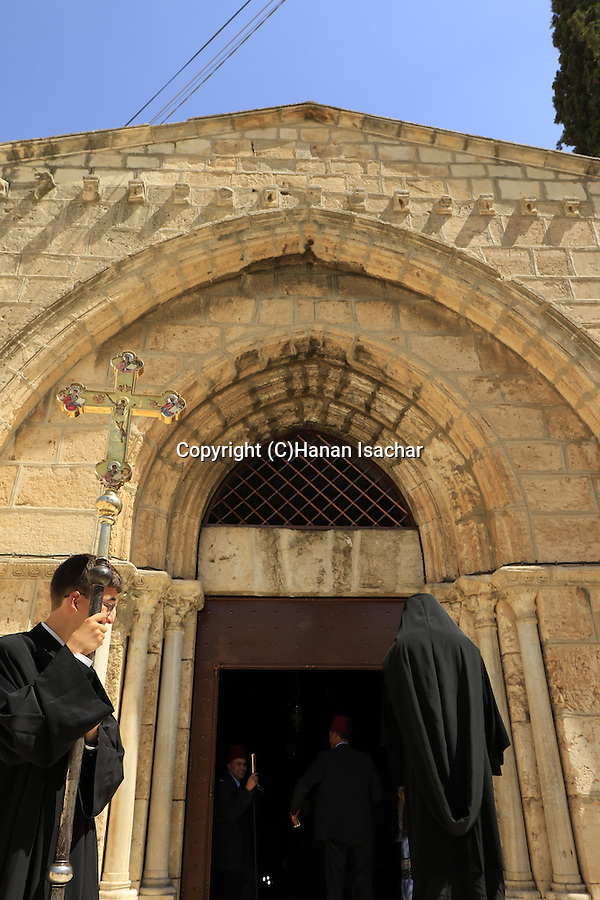 Israel, Jerusalem, the Greek Orthodox Feast of the Assumption at Mary's Tomb