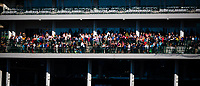 LOUISVILLE, KENTUCKY - MAY 02: The fans are starting to fill the stands already to watch the Derby and Oaks Contenders exercising at Churchill Downs on May 2, 2017 in Louisville, Kentucky. (Photo by Douglas DeFelice/Eclipse Sportswire/Getty Images)
