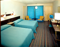 Tahiti Motel, Wildwood, NJ. 1960's Retro Motel Room photograph.