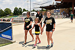 4 JUNE 2016: Millersville University fans arrive to the stadium during the Division II Men's Baseball Championship between Millersville University and Nova Southeastern University at the USA Baseball National Training Complex in Cary, NC.  Nova Southeastern University defeated Millersville University 8-6 to win the national title. Grant Halverson/NCAA Photos