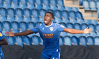 Kwame Poku of Colchester United celebrates his goal and the hosts third during Colchester United vs Stevenage, Sky Bet EFL League 2 Football at the JobServe Community Stadium on 5th October 2019
