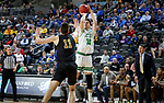 SIOUX FALLS, SD - MARCH 8: Filip Rebraca #12 of the North Dakota Fighting Hawks shoots a jumper against the PFW Mastodons at the 2020 Summit League Basketball Championship in Sioux Falls, SD. (Photo by Dave Eggen/Inertia)
