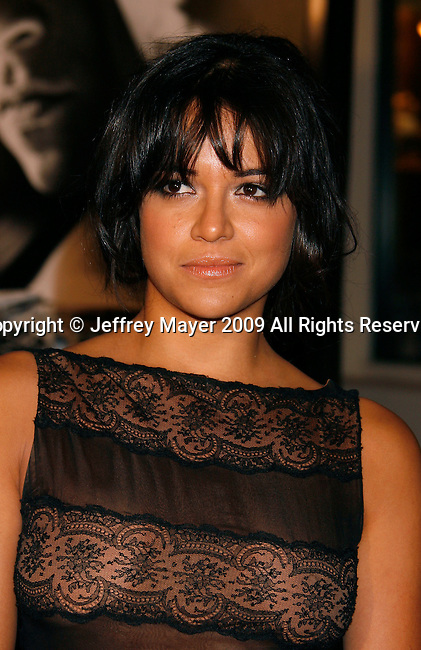 "UNIVERSAL CITY, CA. - March 12: Michelle Rodriguez arrives at the Los Angeles premiere of ""Fast & Furious"" at the Gibson Amphitheatre on March 12, 2009 in Universal City, California."