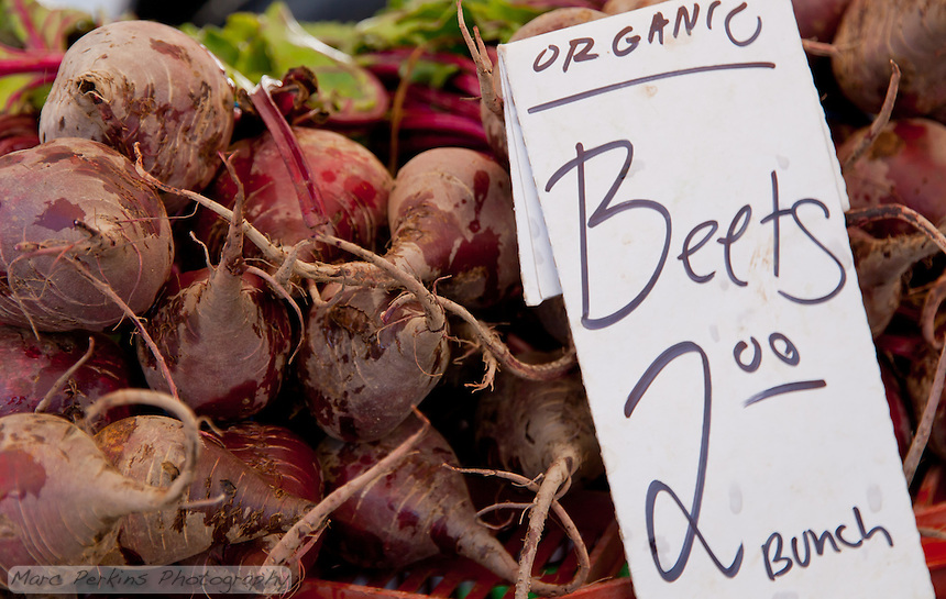 A pile of beets at South Coast Collection's Farmers' Market.