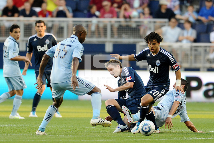 Vancouver Whitecaps forward Davide Chiumiento in action... Sporting KC defeated Vancouver Whitecaps 2-1 at LIVESTRONG Sporting Park, Kansas City, Kansas.