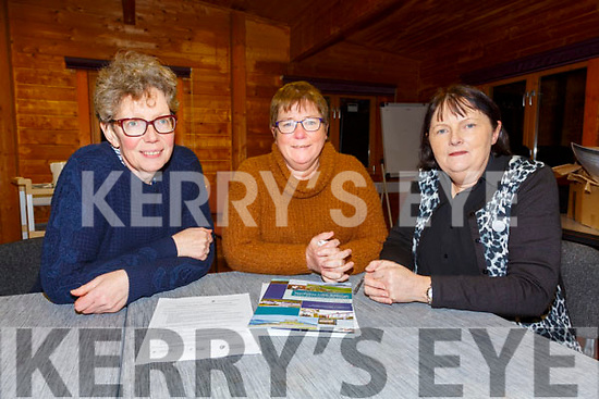 Members of the Iveragh Taskforce who hope to attract 10 new families to live in South Kerry over the next three years pictured here l-r; Caitlín Breathnach, Áine Uí Bheoláin agus Cathy Uí Chonaill.