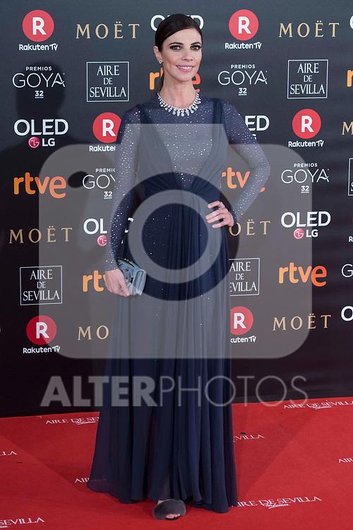 Maribel Verdu attends red carpet of Goya Cinema Awards 2018 at Madrid Marriott Auditorium in Madrid , Spain. February 03, 2018. (ALTERPHOTOS/Borja B.Hojas)
