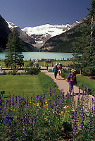 Banff National Park, lake, Canada, Alberta, Canadian Rockies, Scenic view of Lake Louise in Banff National Park in Alberta.