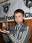 Ardee Celtic Under 13 player of the year Sam O'Callaghan at the Ardee Celtic annual awards night in Ardee parish centre. Photo:Colin Bell/pressphotos.ie
