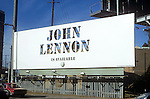 John Lennon billboard on the Sunset Strip