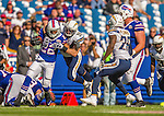 21 September 2014: Buffalo Bills running back Fred Jackson rushes for a first down in the fourth quarter against the San Diego Chargers at Ralph Wilson Stadium in Orchard Park, NY. The Chargers defeated the Bills 22-10 in AFC play. Mandatory Credit: Ed Wolfstein Photo *** RAW (NEF) Image File Available ***