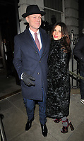 Gary Kemp and Lauren Kemp at the LFW (Men's) a/w2018 GQ Dinner, Berners Tavern, The London Edition Hotel, Berners Street, London, England, UK, on Monday 08 January 2018.<br /> CAP/CAN<br /> &copy;CAN/Capital Pictures