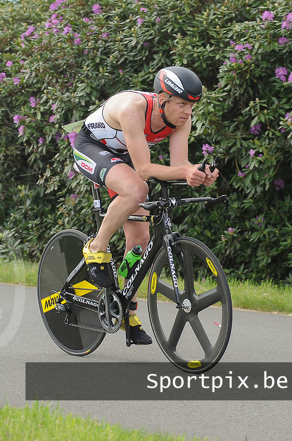 20170514 GEEL : Kwart triathlon -  1/4 Triathlon<br /> Fietsproef<br /> <br /> PHOTO SPORTPIX.BE / DIRK VUYLSTEKE