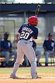 Washington Nationals Josh Johnson #20 at bat during a spring training game against the Baltimore Orioles at the Spacecoast Stadium Training Complex on March 27, 2011 in Melbourne, Florida.  Photo By Mike Janes/Four Seam Images
