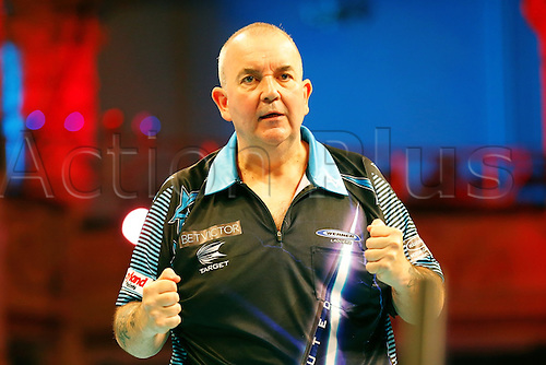23.07.2016. Empress Ballroom, Blackpool, England. BetVictor World Matchplay Darts. Phil Taylor celebrates his win