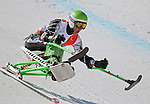 March 27, 2012:  Andrew Kurka skis in the downhill competition at the U.S. Adaptive Alpine National Championships at the Racer's Edge course in Aspen, Colorado.