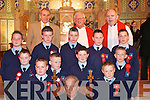 The lads from Castleisland Boy's National School who were confirmed by Bishop Bill Murphy in St Stephen's and John's Church Castleisland on Friday.   Copyright Kerry's Eye 2008