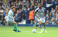 West Bromwich Albion's Semi Ajayi under pressure from Blackburn Rovers' Bradley Dack<br /> <br /> Photographer Kevin Barnes/CameraSport<br /> <br /> The EFL Sky Bet Championship - West Bromwich Albion v Blackburn Rovers - Saturday 31st August 2019 - The Hawthorns - West Bromwich<br /> <br /> World Copyright © 2019 CameraSport. All rights reserved. 43 Linden Ave. Countesthorpe. Leicester. England. LE8 5PG - Tel: +44 (0) 116 277 4147 - admin@camerasport.com - www.camerasport.com