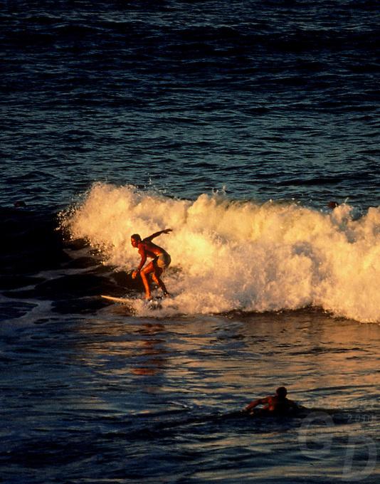 Catching the last wave,Queensland, Australia