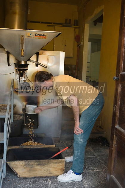Europe/Espagne/Iles Canaries/Tenerife/ La Orotava: Moulin à  Gofio ,Farine grillée puis moulue