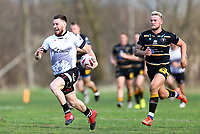 TORONTO, ON - MAY 05:  Blake Wallace #17 of the Toronto Wolfpack scores a try in the second half of a Betfred Championship match against the Swinton Lions at Fletcher's Fields on May 5, 2018 in Toronto, Canada.  (Photo by Vaughn Ridley/SWpix.com)