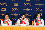 (L to R) Mashu Baker, Shohei Ono and Haruka Tachimoto, speak during a news conference at the Foreign Correspondents' Club of Japan on August 30, 2016, Tokyo, Japan. The three gold medalist judokas spoke about the Rio 2016 Olympic Games, where Japan captured a record 12 medals in this discipline, and their hopes and plans for Tokyo 2020. (Photo by Rodrigo Reyes Marin/AFLO)