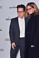 SANTA MONICA, CA. February 21, 2019: J.J. Abrams & Katie McGrath at the 14th Annual Oscar Wilde Awards.<br /> Picture: Paul Smith/Featureflash