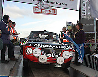 Stephen Graham - Tony Graham in their Lancia Fulvia Coupe 1.3S at the Start Ramp of the Rallye Monte Carlo Historique 2013 which started at the People's Palace, Glasgow on 26.1.13.