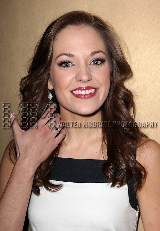 Laura Osnes attending the 2013 Tony Awards Meet The Nominees Junket  at the Millennium Broadway Hotel in New York on 5/1/2013...