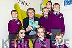 Moyvane Author, Gabriel Fitzmaurice, was a special guest at Gaeilscoil Faithleann in Killarney on Friday last for the opening of their school library.<br /> Front l-r Keira Ni Gh&eacute;ibheannaigh, Kate Ni Shuilleabhain and Leonard &Oacute; Br&aacute;daigh. <br /> Back l-r Callum Mac An Choilligh, Gabriel Fitzmaurie, Kiernan &Oacute; Cealleagh, Sinead Olibh&eacute;ar and Conor &Oacute; Loinsigh.