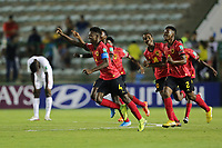 29th October 2019; Bezerrao Stadium, Brasilia, Distrito Federal, Brazil; FIFA U-17 World Cup Brazil 2019, Angola versus Canada; Players of Angola celebrate their victory after the match - Editorial Use