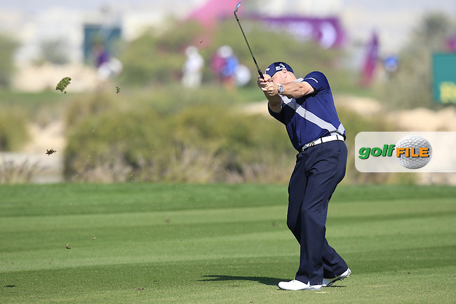 Craig LEE (SCO) plays his 3rd shot on the 9th hole during Thursday's Round 2 of the 2015 Commercial Bank Qatar Masters held at Doha Golf Club, Doha, Qatar.: Picture Eoin Clarke, www.golffile.ie: 1/22/2015