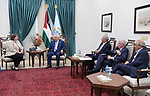 Palestinian President Mahmoud Abbas meets with EU Special Representative for the Middle East Peace Process Susanna Terstal, in the West Bank city of Ramallah, July 04, 2019. Photo by Thaer Ganaim