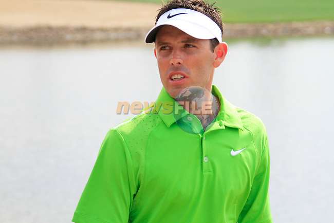 Charl Schwartzel makes his way to the 7th teebox during Day 3 Saturday of the Abu Dhabi HSBC Golf Championship, 22nd January 2011..(Picture Eoin Clarke/www.golffile.ie)
